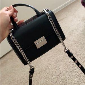 Zara Mini Crossbody Bag Purse Black Snake Skin